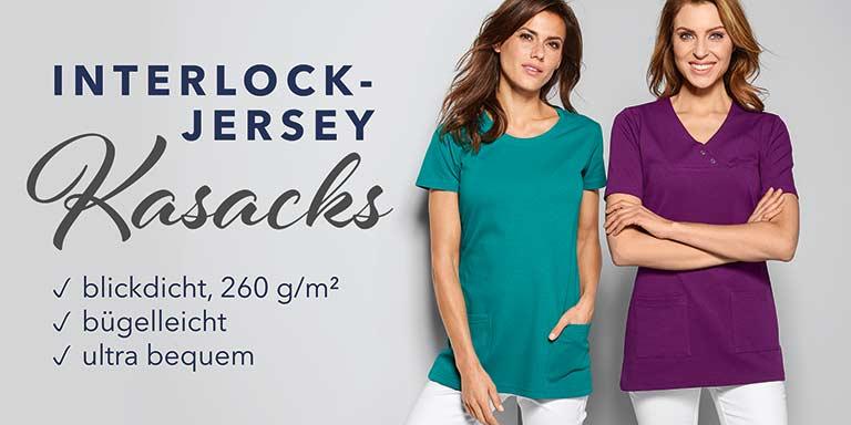 Berufsbekleidung - Interlock-Jersey Kasacks von 7days